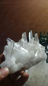 Hot sale cute nature white crystal quartz cluster for healing
