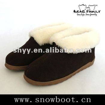 Winter loafer shoes new designer snow boots for men