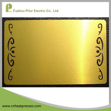 Prior Golden Silver Metal Name Card Sublimation Metal Business Card Blank