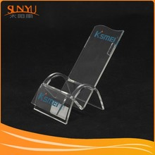 Deck Chair shaped hot bending transparency acrylic Mobile phone display stand