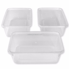 PP safe heat resistant airtight microwave square takeaway plastic lunch food containers