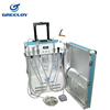 easy delivery dental luggage type unit with compressor for US distributor