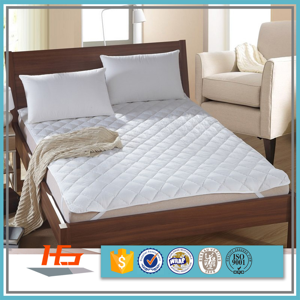 European Style Cotton Fabric Super King Size Elastic Mattress Protector