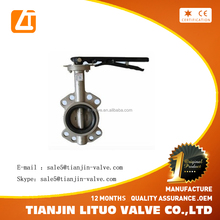 Durable competitive price Butterfly valve SS316 body with Teflon seat