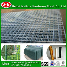 (Real factory) green vinyl coated welded wire mesh fence/colored metal fence panesl with post/square wire mesh fence
