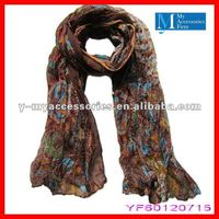 2012 new printed polyester scarf