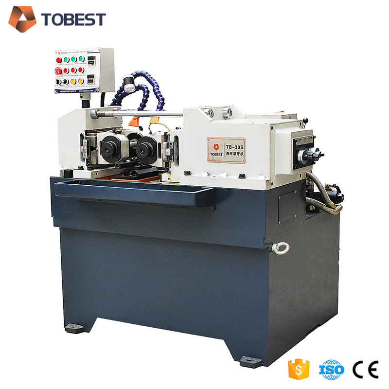 Hydraulic pressure thread rolling machine eye bolts making machine