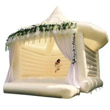 High quality inflatable adult bounce house,white bounce house for wedding