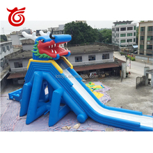 40m Factory price hot sale dragon giant inflatable water slide for adult,inflatable slide