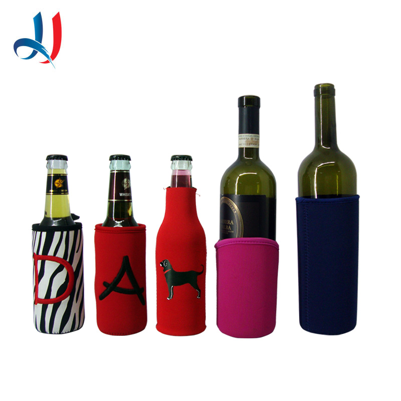 embroider glass bottle cover for beer wine