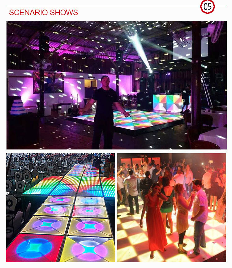 DJ  High Quality Digital night club 432 pcs 100x100cm led colorful dance floor