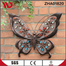 Hot sale butterfly design wall hanging with solar light