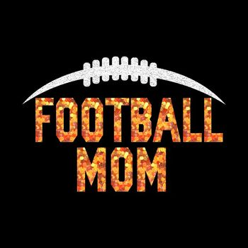 Hot Sale Football Mom Glitter Heat Transfer Vinyl For T-Shirts