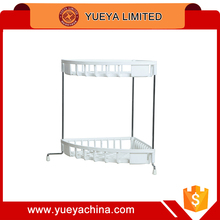 white triangle 2 Tier Two Layer Plastic Plate Cutlery Dish Draining Rack