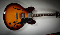 directly factory Hollow body sunburst color ES335 electric jazz guitars for sale