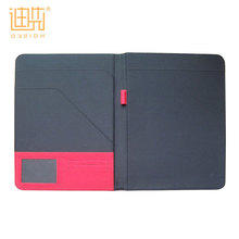 Red PU leather handmade paper file folder portfolio for women