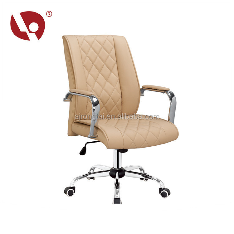 Computer Chair Anji Gold Supply Comfortable Mid Back PU Office Chair Wholesale