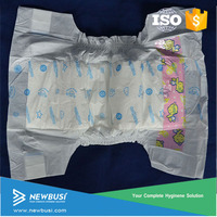 Produce nice baby cloth diaper by high quality diaper machine in Quanzhou