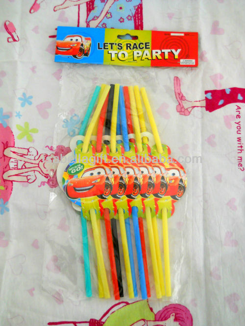 Party Drinking Straws with Canton decoration