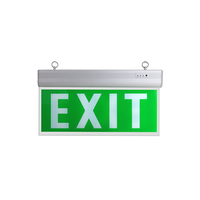 rechargeable led exit sign lights fire alarm emergency light
