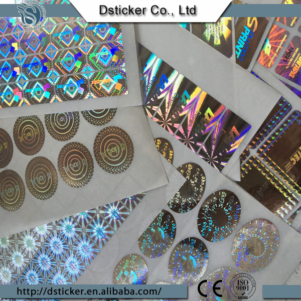 Gold Foil Laser Printing Hologram Sticker