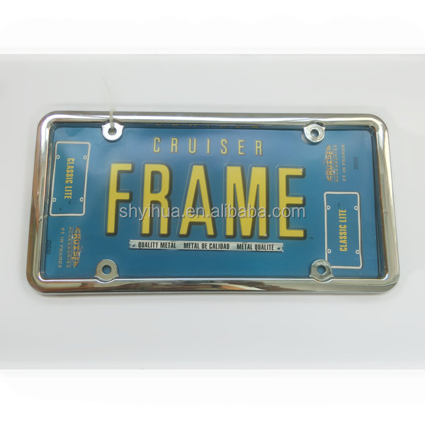 steel license plate frame