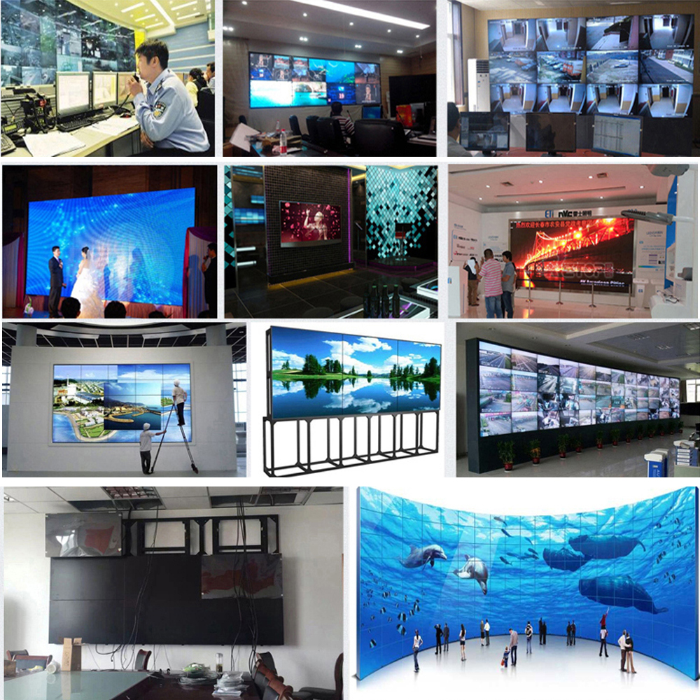 55 inch full HD video wall display with 4mm bezel