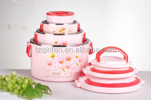 Eco 4 compartment lock and lock food container with strainer