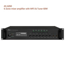 AS-6Z60 60W PA system MP3 player and Tuner mixer amplifier with 6 zones Aplus PA