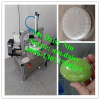 semi-automatic hotel soap packing machine/pleated soap packing machine/round soap packing machine in paper