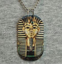 Metal dog tag Necklace KING TUT Tutankhamun ancient egypt pendant 1-SIDED print