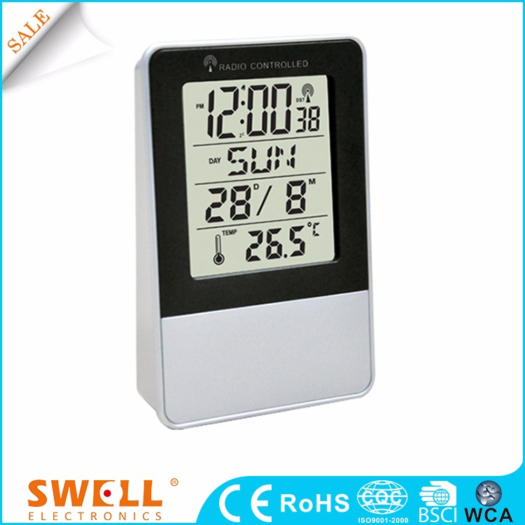 China Bsci Table 7 Optional Languages Electric Plastic Perpetual Calendar Clock