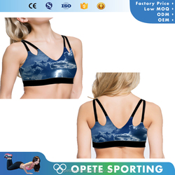 (Trade Assurance)Customize top quality fitness clothing elastic seamless sexy sports bra for women