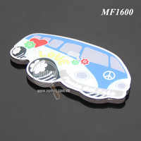 Souvenirs Car Shaped Rubber Magnet Stainless Steel Metal Custom Full Color Printing Fridge Magnet