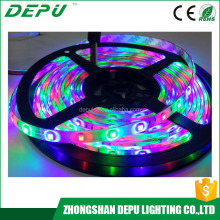 Zhongshan manufacturer 12v 5m 3528 300leds Rgb Waterproof led Strip Light ip68 with Remote & Adapter