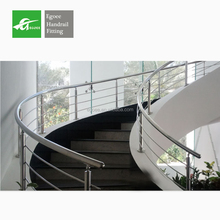 Modern design 304 316 outdoor metal stainless steel handrail/stair glass railing prices