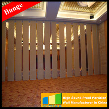 Top Hung Fire rated Modern Operable Partition System temporary partition wall For Resturant