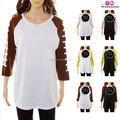 Factory wholesale woman and kids football sleeve raglan