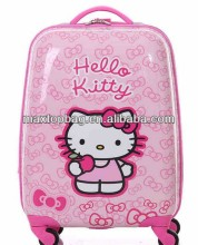 Wholesale hello kitty abs trolley travel bags with universal wheel