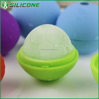 Promotion gift items football shape silicone ice cube tray