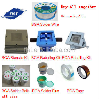 Solder paste Solder wick BGA reballing kit stencils solder ball,One step to buy all!