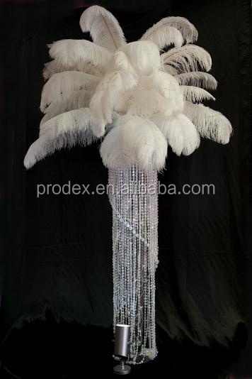 Artificial white ostrich feather for wedding decoration