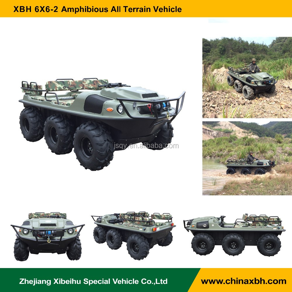 XBH 6x6-2 2017 new multifunction Amphibious Vehicle UTV ATV desert swamp river all terrains car