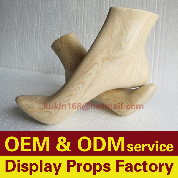 Wooden foot <strong>model</strong> used for high heel shoes display, Foot mannequin used for socks display