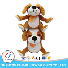 Funny lifelike stuffed sounds overlapping action music dog activity toy