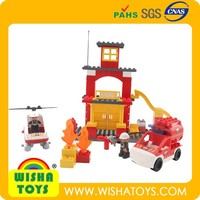 High Quality Fire fight station ABS toy blocks set Toy bricks compatible to Duplo A