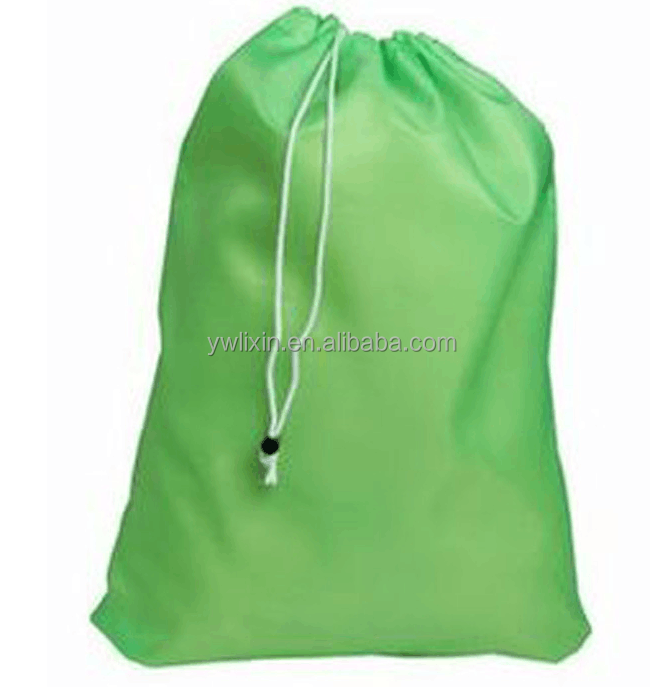Large polyster drawstring laundry bag