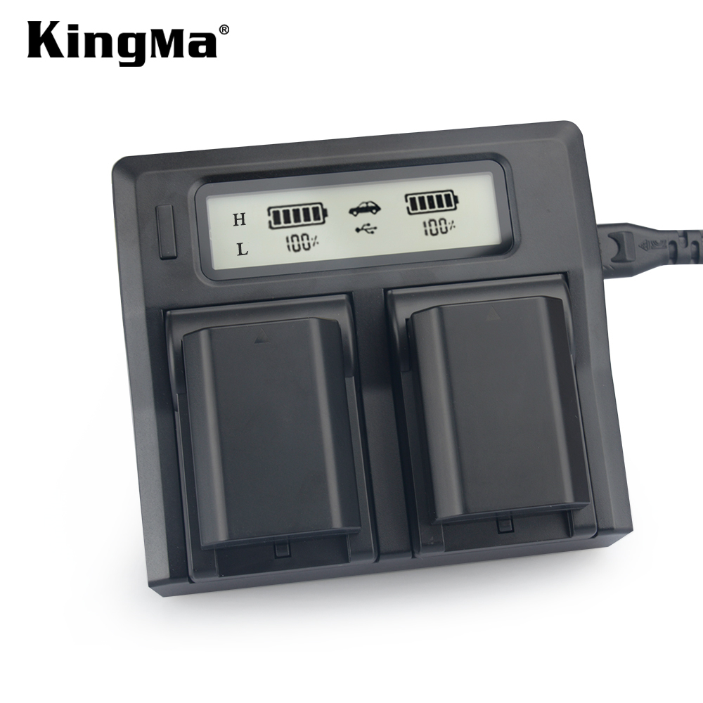 KingMa NP-FZ100 Battery (2 Pack ) DC LCD Display Dual Battery Charger for Sony ILCE-9 A9 Full Frame Micro Single Digital Camera