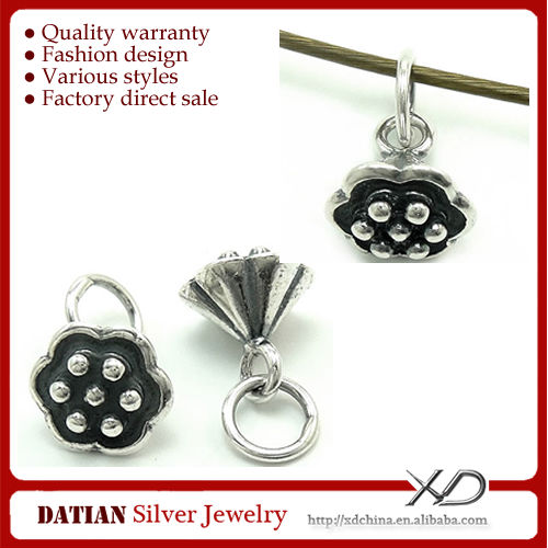 XD KM004 Flower Shaped 925 Sterling Charms Thai Silver Pendant