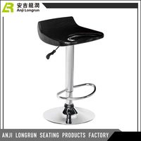 2018 new design adjustable swivel high chromed gas lift and base bar chair